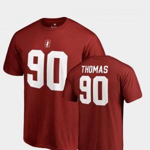 Stanford Cardinal Solomon Thomas T-Shirt #90 Cardinal For Men's Name & Number College Legends