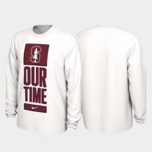 Stanford Cardinal T-Shirt Our Time Bench Legend 2020 March Madness For Men's White