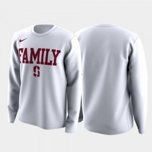 Stanford Cardinal T-Shirt March Madness Legend Basketball Long Sleeve Men Family on Court White
