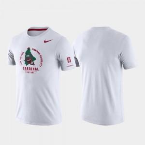 Stanford Cardinal T-Shirt Rivalry Mens Tri-Blend Performance White
