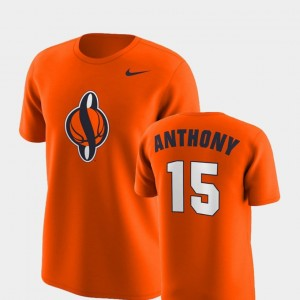Syracuse Orange Carmelo Anthony T-Shirt Future Stars #15 Replica Mens Orange