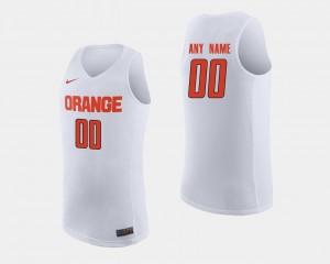 Syracuse Orange Custom Jersey #00 Men's White College Basketball