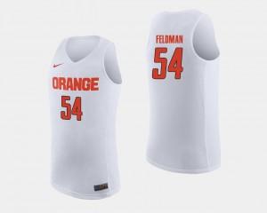 Syracuse Orange Ky Feldman Jersey White #54 Mens College Basketball