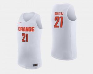 Syracuse Orange Marek Dolezaj Jersey White #21 College Basketball Men