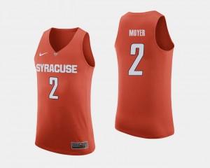 Syracuse Orange Matthew Moyer Jersey #2 Men's College Basketball Orange