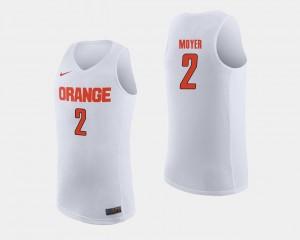 Syracuse Orange Matthew Moyer Jersey White College Basketball For Men's #2
