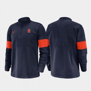 Syracuse Orange Jacket 2019 Coaches Sideline Half-Zip Performance Mens Navy