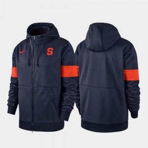 Syracuse Orange Hoodie Navy Performance Full-Zip 2019 Sideline Therma-FIT Mens