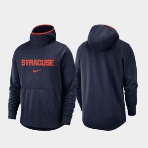 Syracuse Orange Hoodie Basketball Team Logo Pullover Navy Spotlight For Men