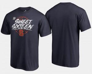 Syracuse Orange T-Shirt Navy Men 2018 March Madness Basketball Tournament Backdoor Sweet 16 Bound