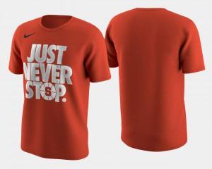 Syracuse Orange T-Shirt Orange March Madness Selection Sunday Men Basketball Tournament Just Never Stop