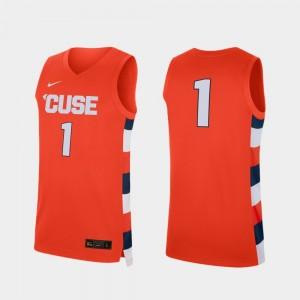 Syracuse Orange Jersey College Basketball Replica Orange #1 Mens