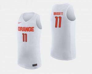Syracuse Orange Oshae Brissett Jersey #11 For Men White College Basketball
