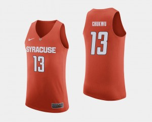 Syracuse Orange Paschal Chukwu Jersey College Basketball Orange For Men #13