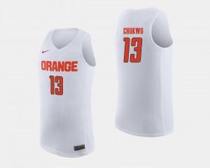Syracuse Orange Paschal Chukwu Jersey #13 College Basketball For Men White