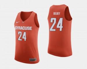 Syracuse Orange Shaun Belbey Jersey #24 Men's College Basketball Orange