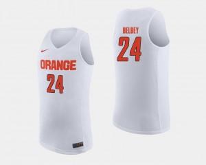 Syracuse Orange Shaun Belbey Jersey White Men College Basketball #24