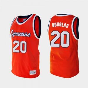 Syracuse Orange Sherman Douglas Jersey Orange #20 Alumni College Basketball For Men's