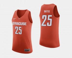 Syracuse Orange Tyus Battle Jersey #25 Orange Men College Basketball