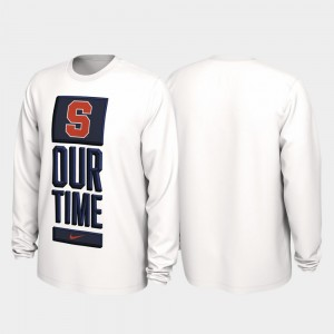 Syracuse Orange T-Shirt 2020 March Madness Mens Our Time Bench Legend White