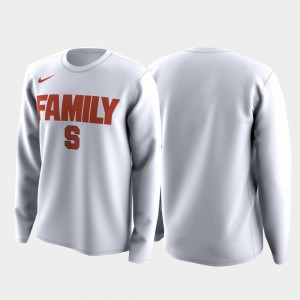 Syracuse Orange T-Shirt White Mens March Madness Legend Basketball Long Sleeve Family on Court