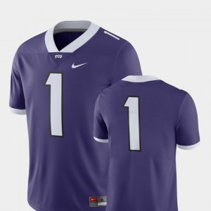 TCU Horned Frogs Jersey Mens College Football 2018 Game Purple #1