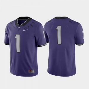 TCU Horned Frogs Jersey #1 Men's Game Purple College Football