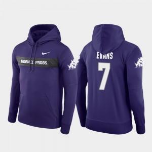 TCU Horned Frogs Arico Evans Hoodie Sideline Seismic Football Performance Men's Purple #7