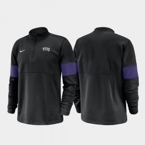 TCU Horned Frogs Jacket Half-Zip Performance For Men's 2019 Coaches Sideline Black