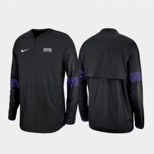 TCU Horned Frogs Jacket Mens Quarter-Zip 2019 Coaches Sideline Black