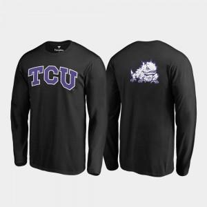 TCU Horned Frogs T-Shirt Black Primetime For Men's Long Sleeve