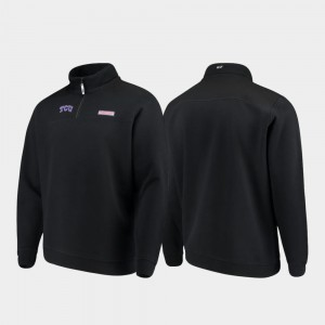 TCU Horned Frogs Jacket Quarter-Zip Black Shep Shirt For Men's