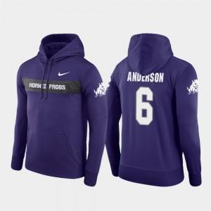 TCU Horned Frogs Darius Anderson Hoodie Sideline Seismic Purple Mens Football Performance #6
