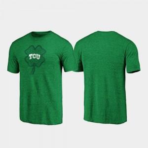 TCU Horned Frogs T-Shirt St. Patrick's Day Celtic Charm Tri-Blend Green Men