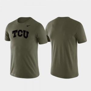 TCU Horned Frogs T-Shirt For Men's Green Tonal Logo Legend Performance