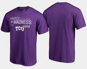 TCU Horned Frogs T-Shirt Purple Men's 2018 March Madness Bound Airball Basketball Tournament