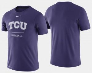 TCU Horned Frogs T-Shirt Purple Men's Dugout Performance College Baseball
