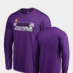 TCU Horned Frogs T-Shirt 2018 Cheez-It Bowl Bound Men's Audible Long Sleeve Purple