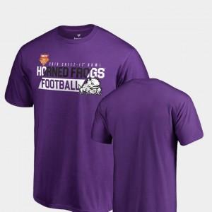 TCU Horned Frogs T-Shirt 2018 Cheez-It Bowl Bound Mens Audible Purple