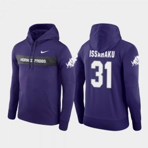 TCU Horned Frogs Ridwan Issahaku Hoodie Sideline Seismic Football Performance #31 For Men's Purple