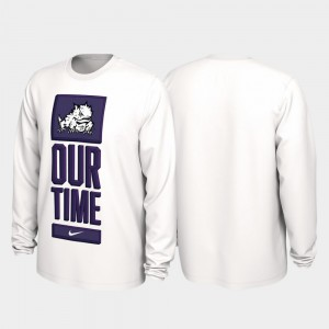 TCU Horned Frogs T-Shirt Our Time Bench Legend White Men 2020 March Madness