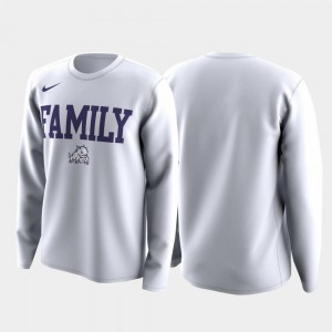 TCU Horned Frogs T-Shirt March Madness Legend Basketball Long Sleeve Family on Court Mens White