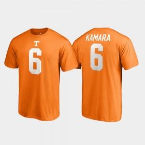Tennessee Volunteers Alvin Kamara T-Shirt Tennessee Orange Mens College Legends Name & Number #6