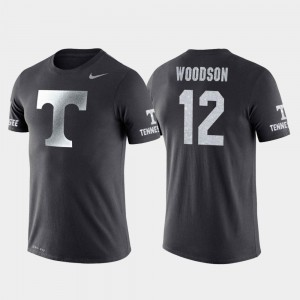 Tennessee Volunteers Brad Woodson T-Shirt Travel Mens Anthracite #12 College Basketball Performance