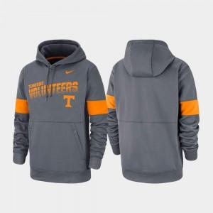 Tennessee Volunteers Hoodie Men Performance Charcoal Pullover