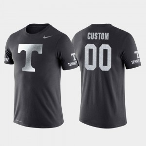 Tennessee Volunteers Custom T-Shirts Anthracite #00 College Basketball Performance Travel Men