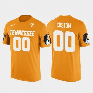 Tennessee Volunteers Customized T-Shirts Orange Cotton Football For Men #00 Future Stars