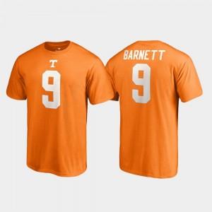 Tennessee Volunteers Derek Barnett T-Shirt Name & Number Mens College Legends Tennessee Orange #9