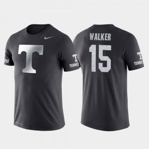 Tennessee Volunteers Derrick Walker T-Shirt College Basketball Performance Anthracite #15 For Men's Travel