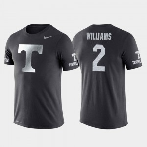 Tennessee Volunteers Grant Williams T-Shirt Travel College Basketball Performance Anthracite #2 For Men